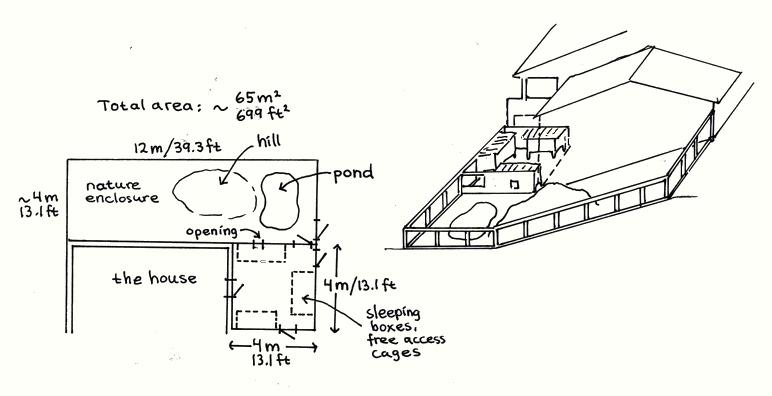 Un enclos extérieur exeptionnel pour fufus bien chanceux ! Design3